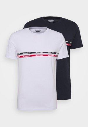 JJGAVIN TEE CREW NECK 2 PACK - T-shirt med print - navy/white