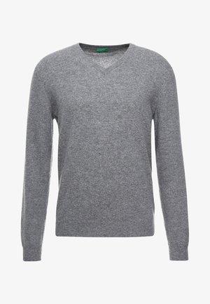 BASIC V NECK - Jumper - grey