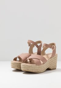 Dorothy Perkins - RUMBA MID HEIGHT EASY FLATFORM  - High heeled sandals - pink - 4