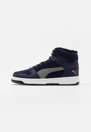 REBOUND LAYUP JR  - High-top trainers - peacoat/ultra gray/dragon fire/white