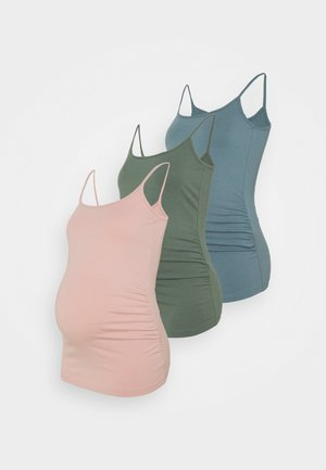 3 PACK - Top - pink /green/teal