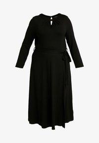 Dorothy Perkins Curve - KEYHOLE MIDI DRESS - Jerseykjole - black - 5