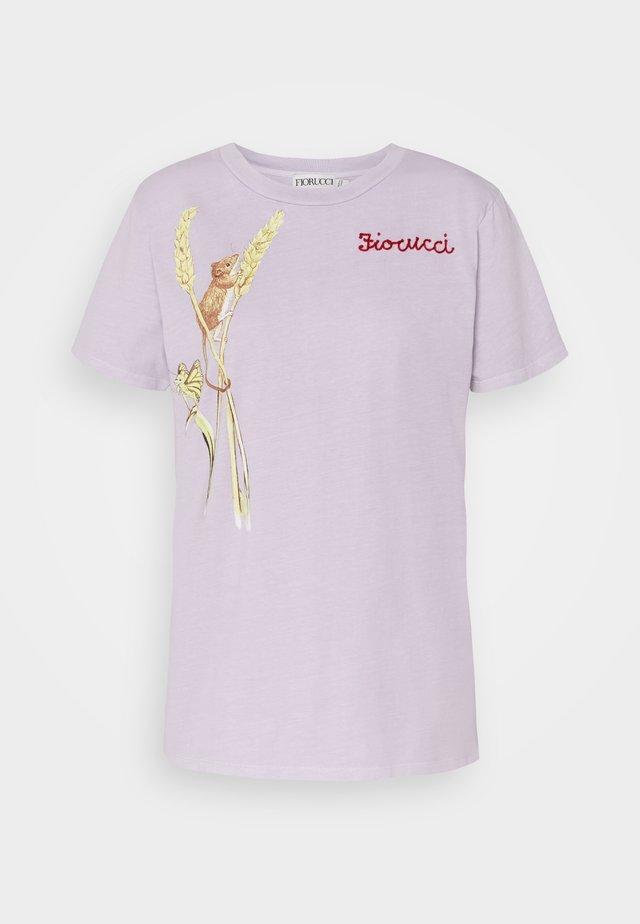 WOODLAND MOUSE FOXGLOVE - T-shirt imprimé - lilac