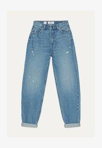 Bershka - MOM - Straight leg jeans - light blue - 4