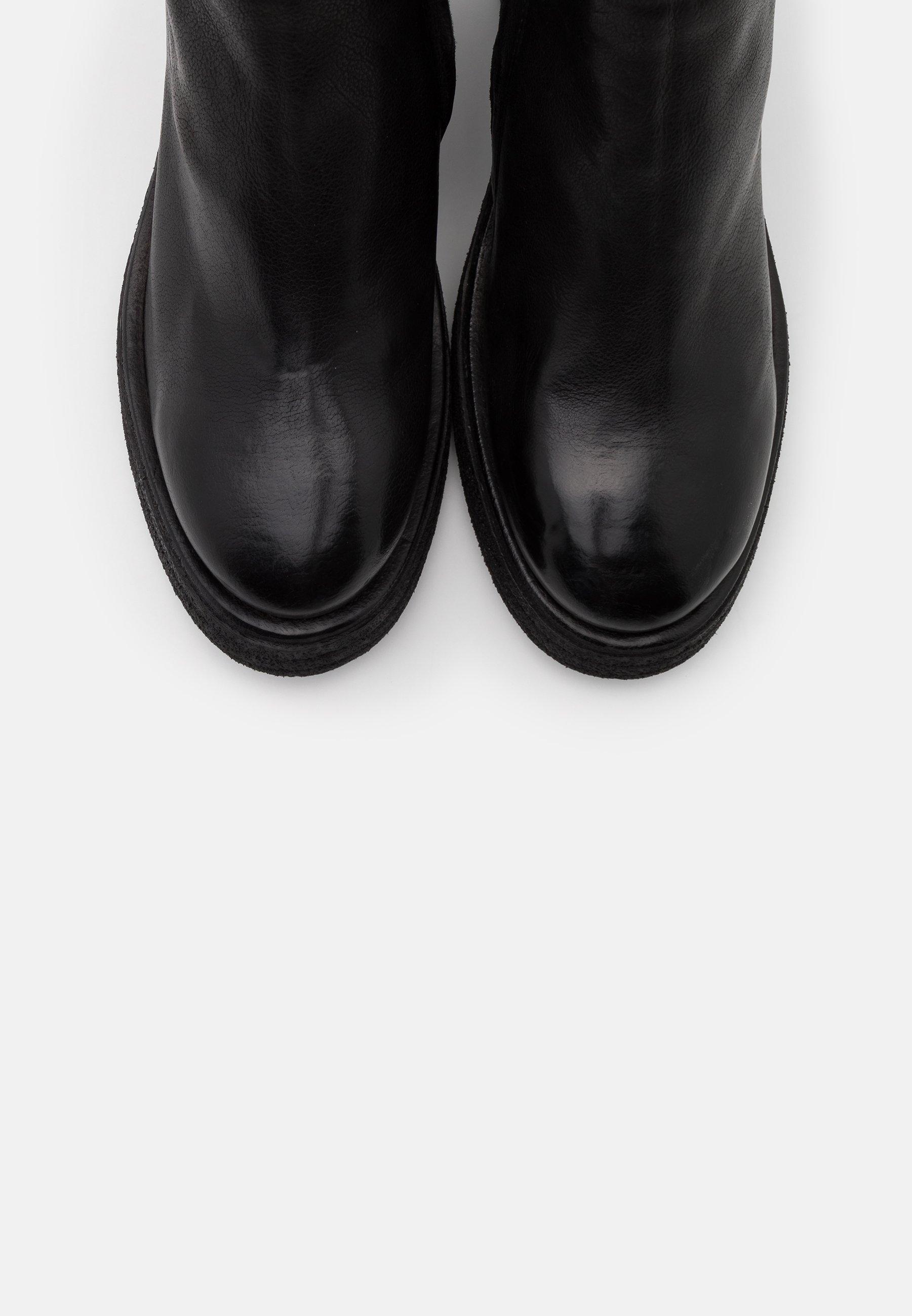 Laarzen met hoge hak nero