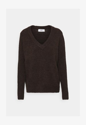 OBJNETE V NECK - Jumper - chicory coffee melange