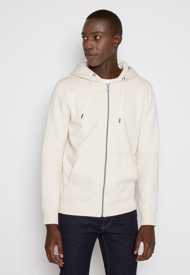 HOODY JACKET  - veste en sweat zippée - light almond