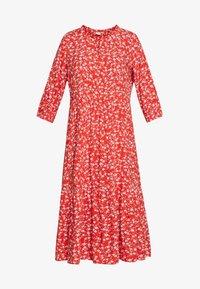 Cream - DAISYCR FLOUNCE DRESS - Day dress - aurora red - 4