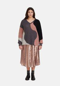 Fiorella Rubino - MIT PAILLETTEN - A-line skirt - rosa - 1