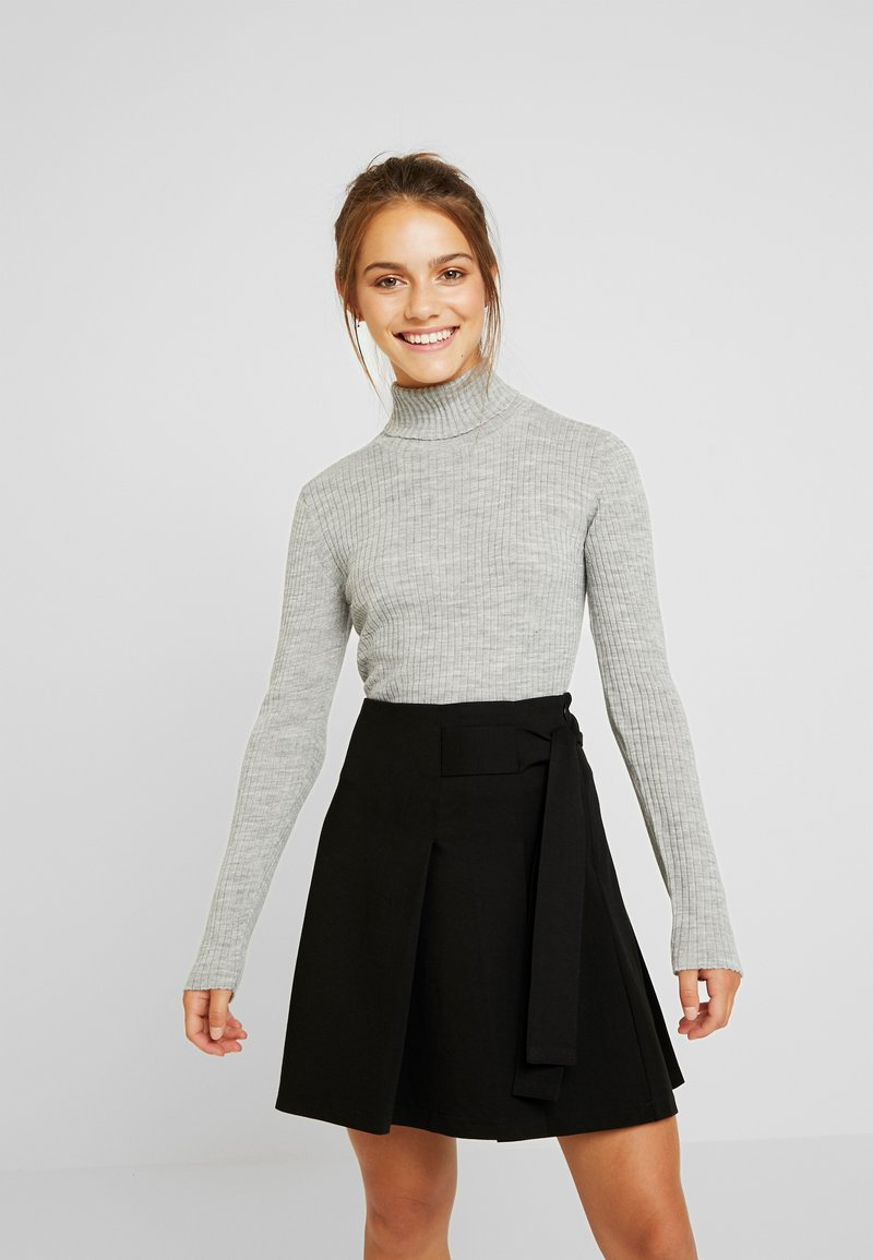 Selected Femme Petite - SLFCOSTA ROLLNECK  - Jumper - light grey melange
