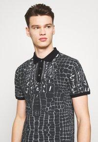 Just Cavalli - ANIMAL PRINT - Polo shirt - black - 3