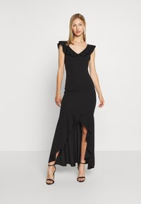 WAL G. - LAYERED HEM LONG DRESS - Occasion wear - black - 0