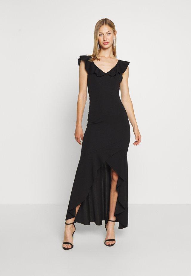 LAYERED HEM LONG DRESS - Vestido de fiesta - black