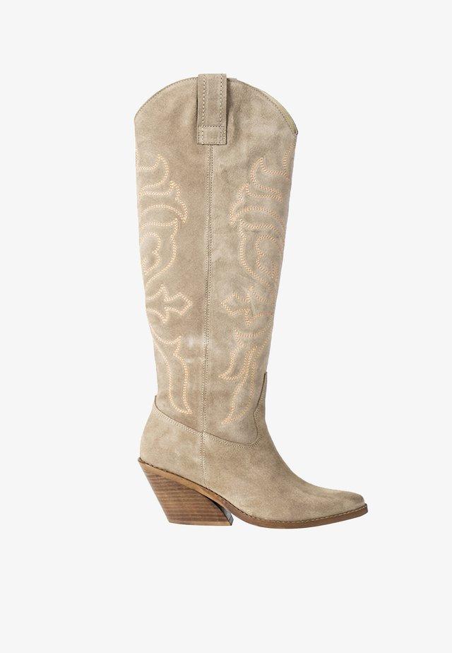 DARLA - Cowboy/Biker boots - beige