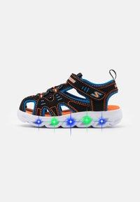 Skechers - HYPNO SPLASH - Walking sandals - black/blue/orange - 0