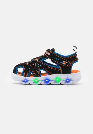 HYPNO SPLASH - Walking sandals - black/blue/orange