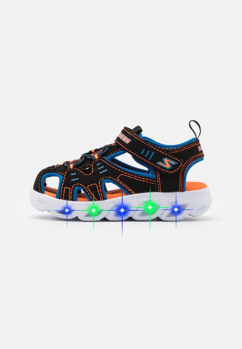Skechers - HYPNO SPLASH - Walking sandals - black/blue/orange