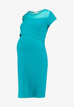 DRESS OSLO - Jerseykjole - teal blue