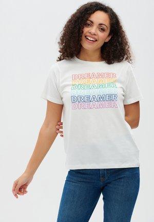 MAGGIE RAINBOW DREAMER - Print T-shirt - offwhite