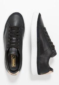 Puma - BASKET TRIM BLOCK - Trainers - black/team gold/white - 1