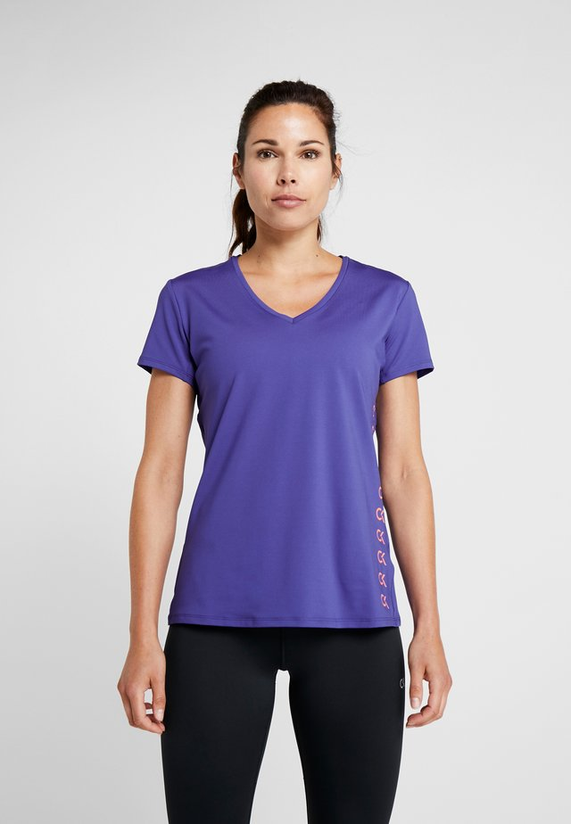 COOLCORE TEE - T-shirt con stampa - blue