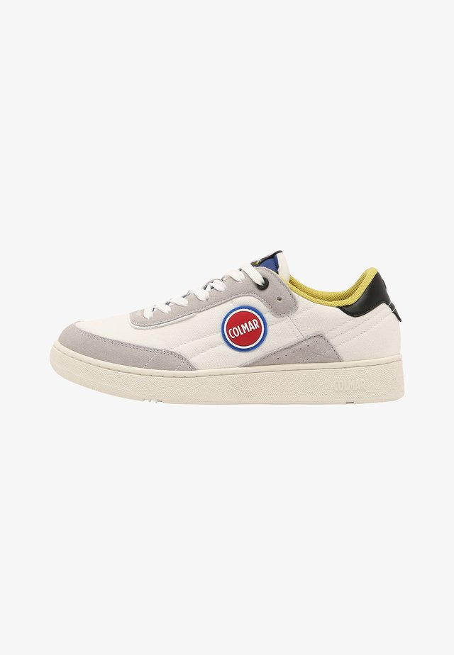 Sneakers laag - white blue dusty lime