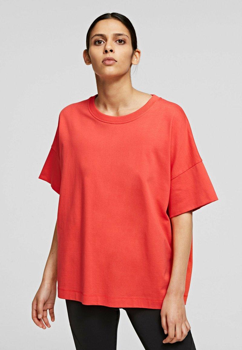 KARL LAGERFELD - RELAXED FIT  - T-Shirt basic - tangerine
