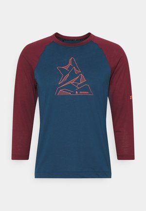 PURE FLOWZ SHIRT 3/4 MENS - Funktionsshirt - french navy/windsor wine