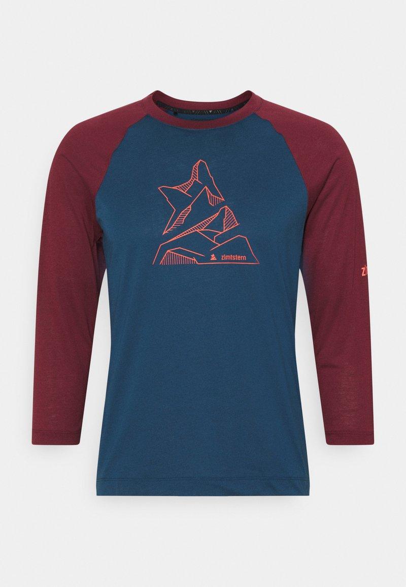Zimtstern - PURE FLOWZ SHIRT 3/4 MENS - Sports shirt - french navy/windsor wine
