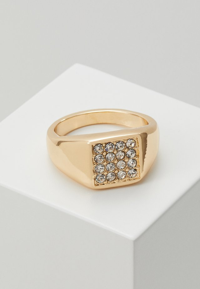 ROUNDED SQUARE FRONT - Prsten - gold-coloured