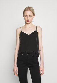 Scotch & Soda - TANK WITH FRONT PANEL - Top - black - 0