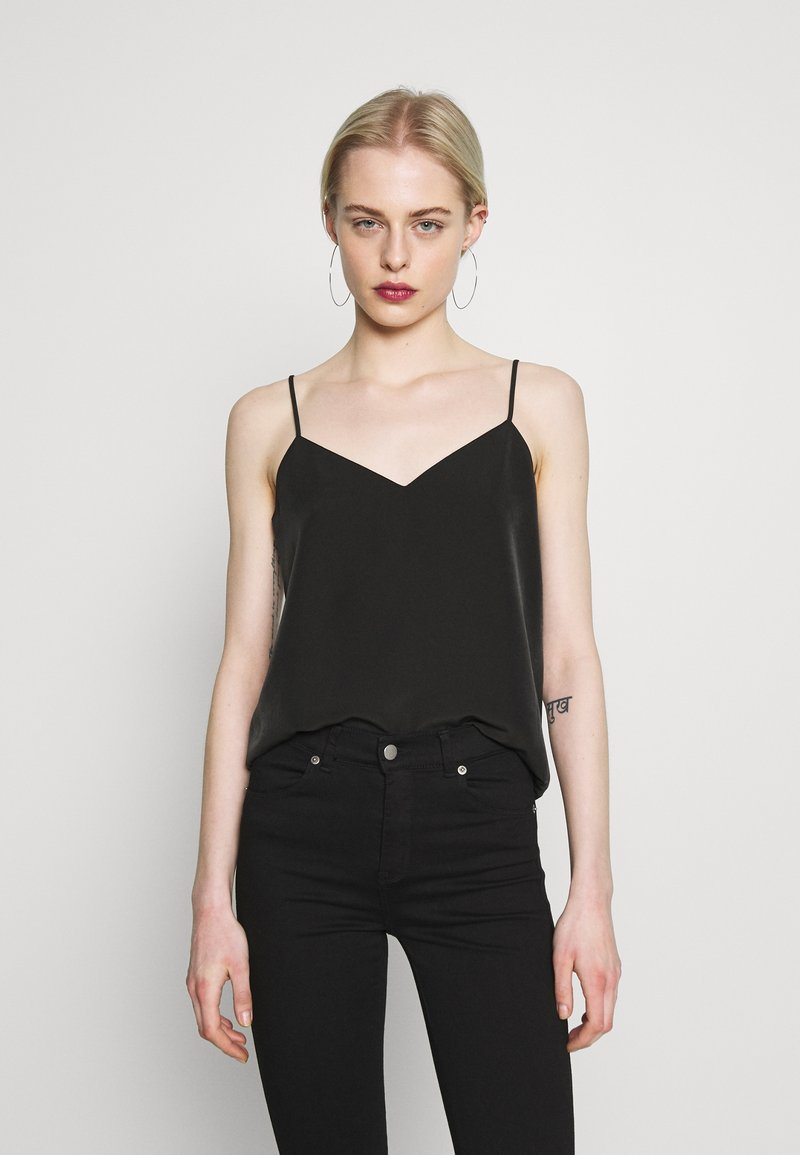 Scotch & Soda - TANK WITH FRONT PANEL - Top - black