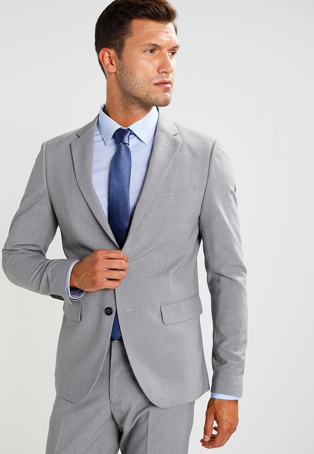 Suit - light grey melange
