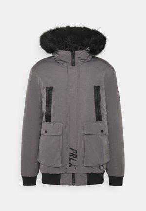 TREN TAPE CROPPED JACKET - Winter jacket - light grey