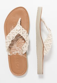 Tommy Hilfiger - TROPICAL BEACH - Flip Flops - ivory - 3