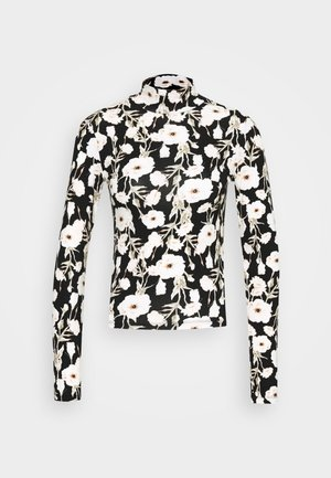 DORSIA - Long sleeved top - black/white/yellow