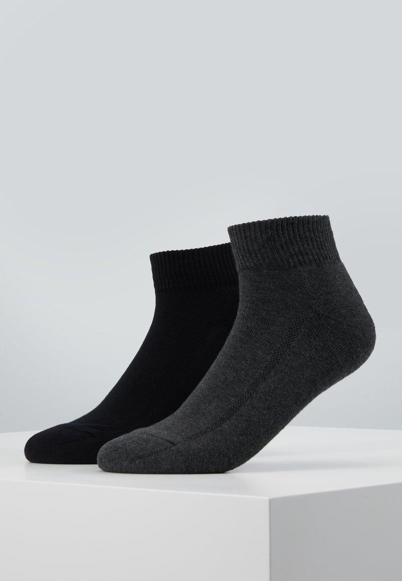 Levi's® - CUSHIONED MID CUT 2PACK - Socks - anthracite melange/black