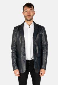 LEATHER HYPE - HYPE BLAZER - Leather jacket - royal blue - 0