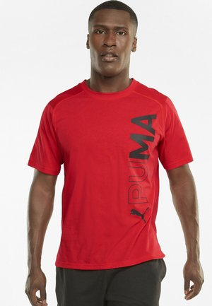 T-shirt con stampa - high risk red