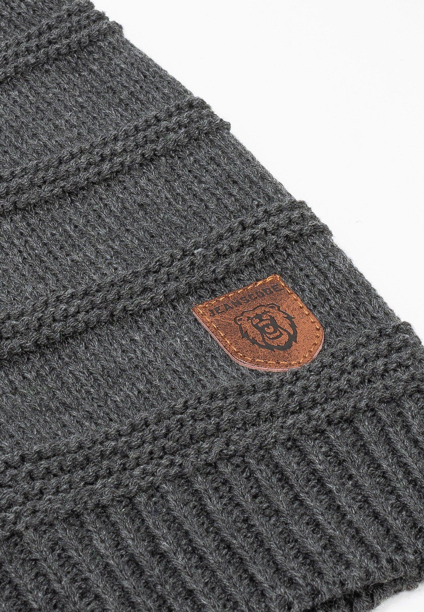 Indicode Jeans Brydges Set - Mütze Charcoal Mix/anthrazit