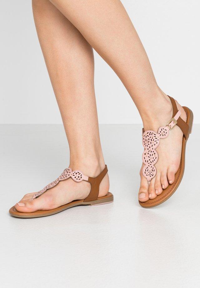 T-bar sandals - pale rose