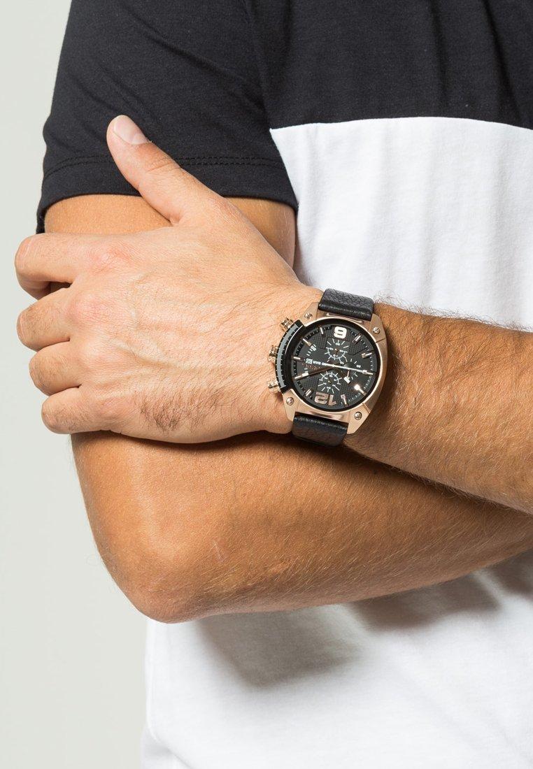 Diesel - OVERFLOW - Zegarek chronograficzny - black