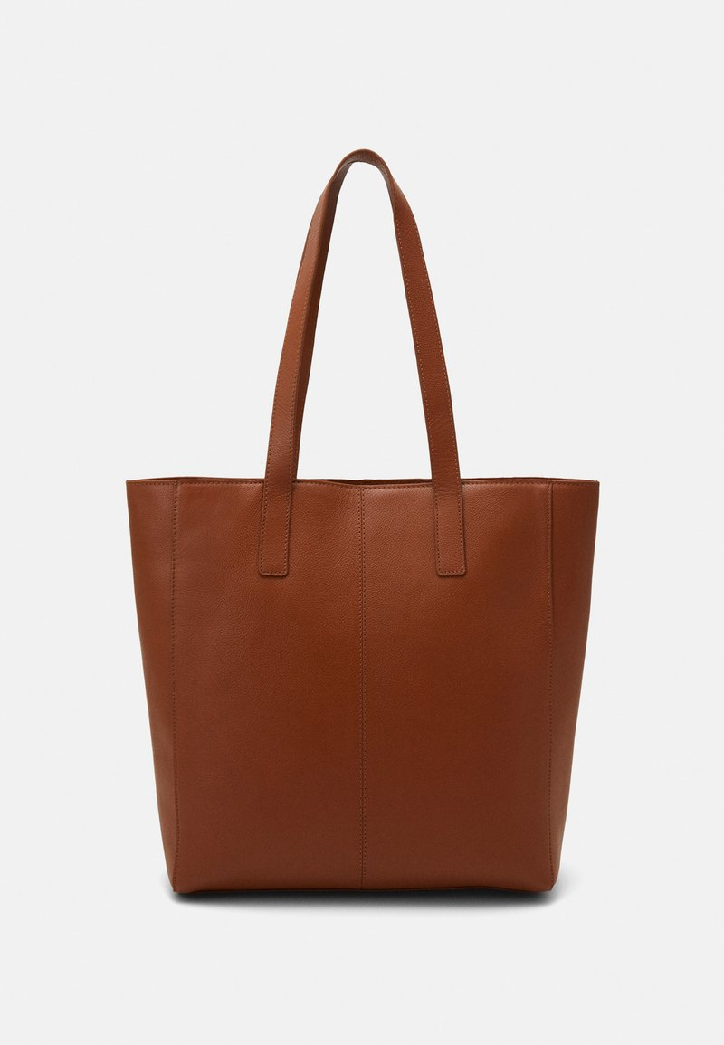 Zign - LEATHER - Tote bag - cognac