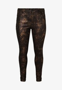 Zizzi - MIT SCHLANGENMUSTER - Trousers - black - 1