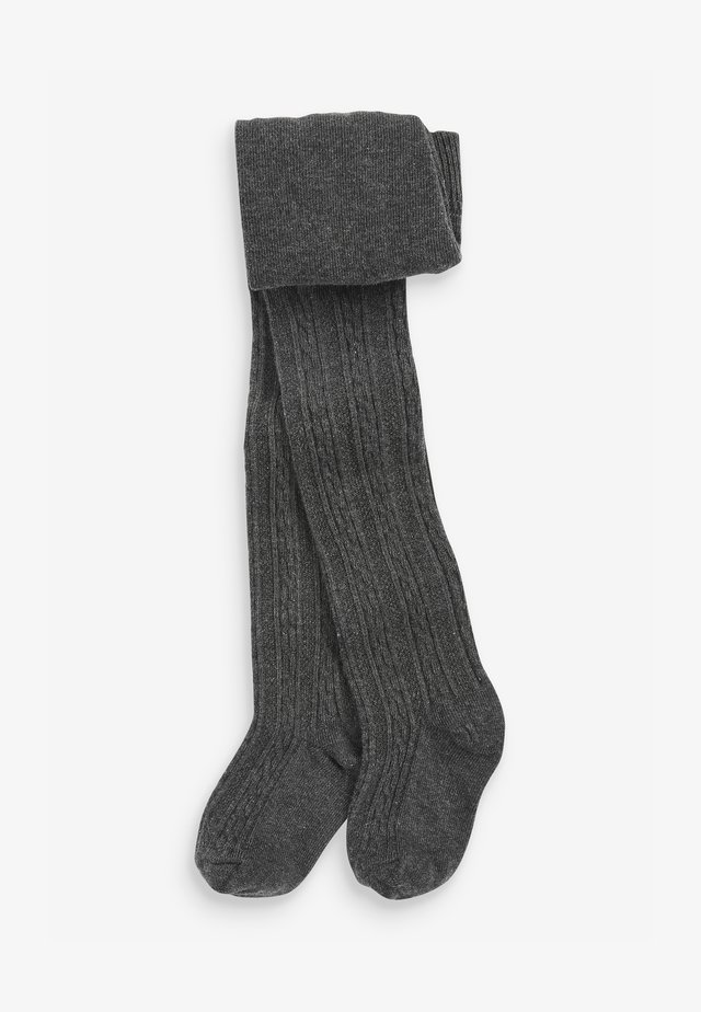CABLE - Over-the-knee socks - grey