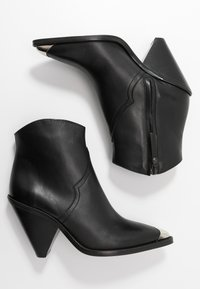 Toral - High heeled ankle boots - black - 3
