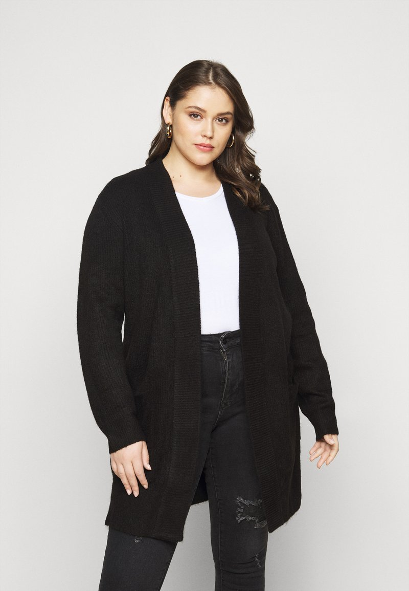 New Look Curves - CARDIGAN - Cardigan - black
