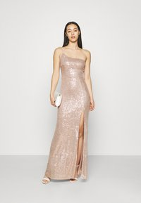 Nly by Nelly - ONE SHOULDER SEQUIN GOWN - Occasion wear - dusty pink - 1