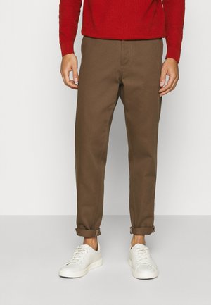 SLHSLIMTAPERED PANTS  - Trousers - teak