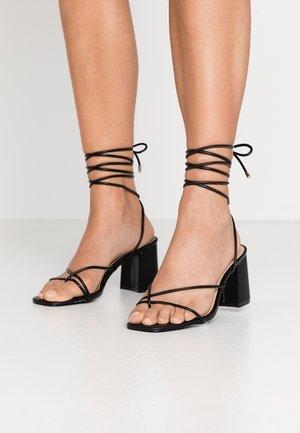 WIDE FIT JENNIFER - Sandals - black